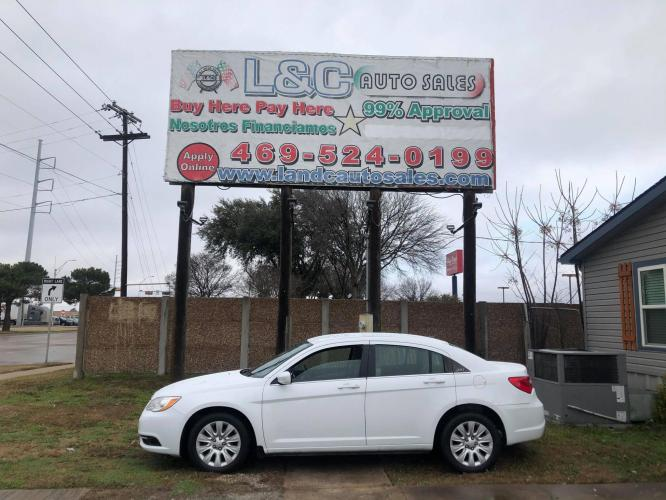 2014 White Chrysler 200 LX (1C3CCBABXEN) with an 2.4L L4 DOHC 16V engine, Automatic transmission, located at 1830 North Belt Line Road, Irving, TX, 75061, (469) 524-0199, 32.834373, -96.993584 - Photo #0